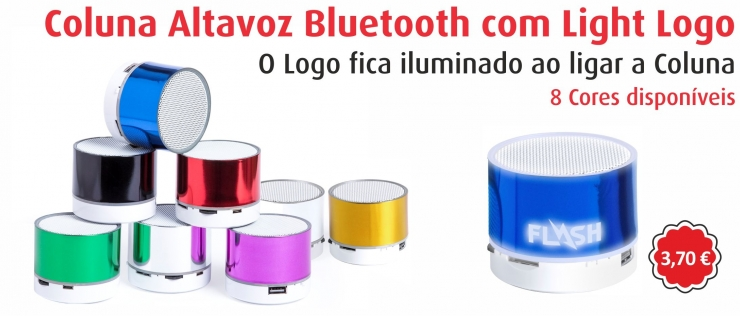 1281 - Altavoz Bluethooth com Rádio Light Logo